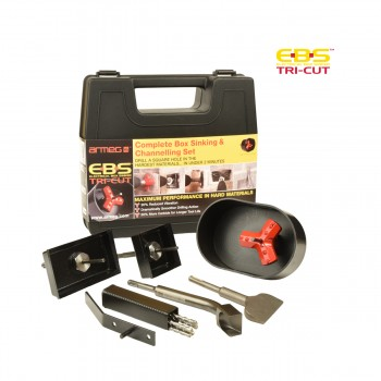 Tri-Cut Complete Box Sinking & Channelling Set