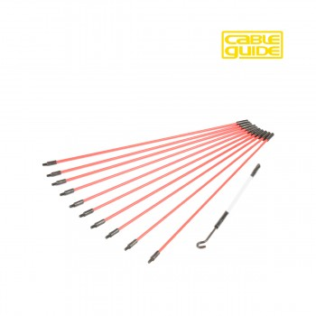 """10 x 300mm Cable Guide """"Mini"""" Rod Set"""