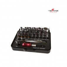 27 Piece Socket and Screwdriver Bit Set