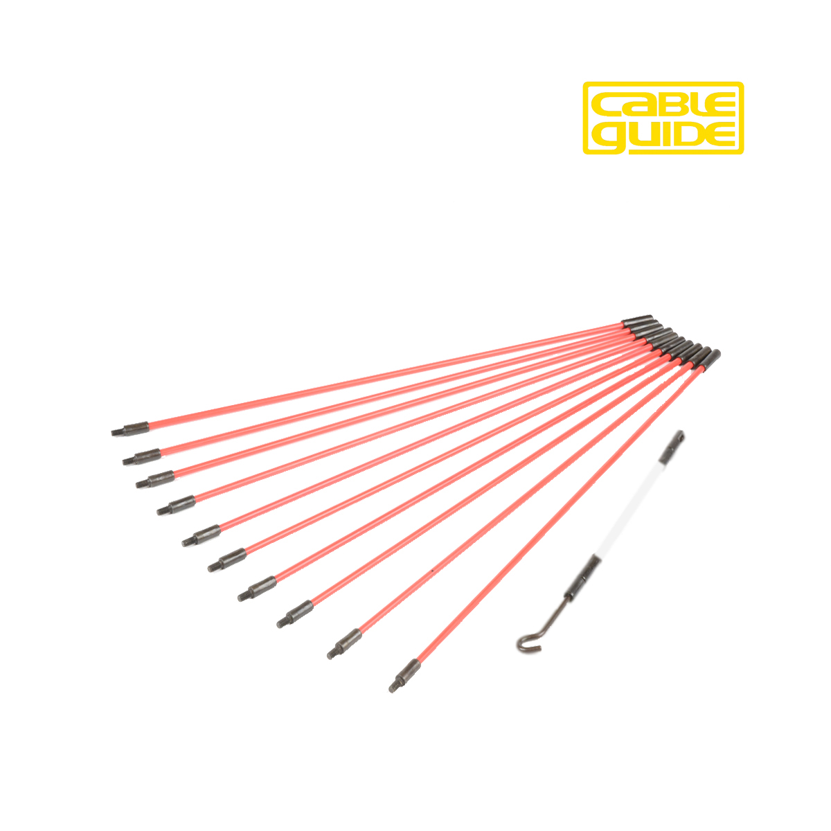 "10 x 300mm Cable Guide ""Mini"" Rod Set"