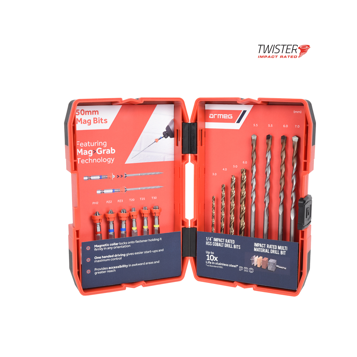 14 Piece Twister Drill-Drive Set